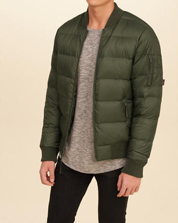 Lightweight Down Bomber Jacket