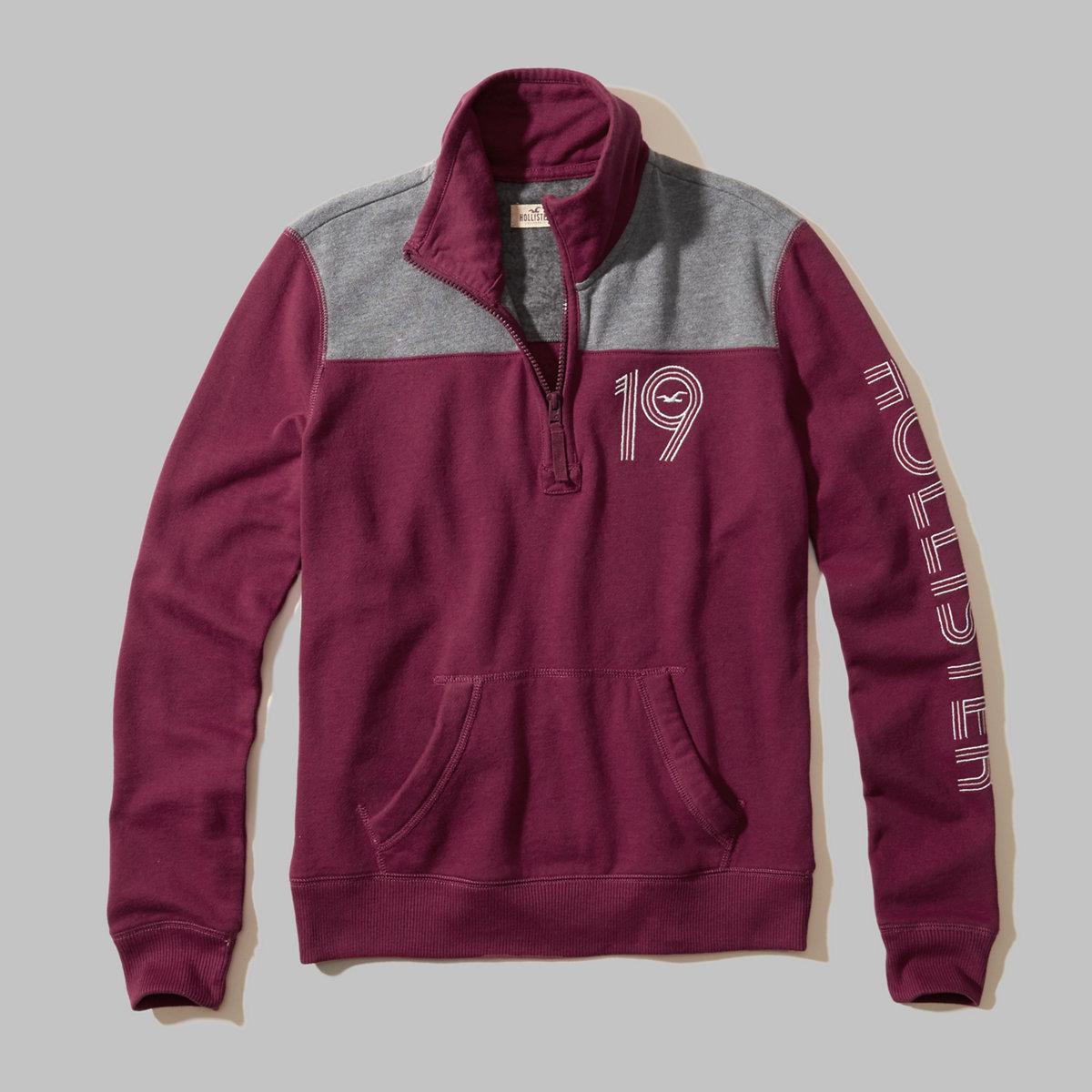 Colorblock Graphic Half-Zip Sweatshirt