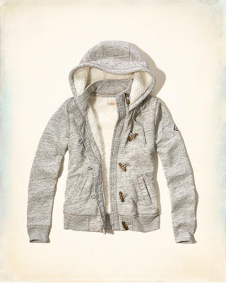 Sherpa Lined Toggle Hoodie