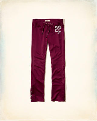 Hollister Cali Sport Side-Snap Graphic Track Pant