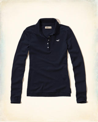 Long-Sleeve Iconic Polo