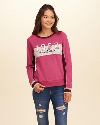 Colorblock Logo Graphic Sweatshirt
