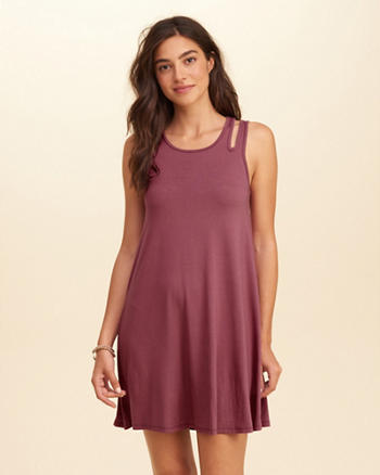 Cutout Knit Swing Dress