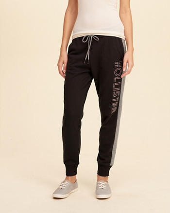 Hollister Cali Sport Colorblock Graphic Joggers
