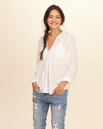 Drapey Lace Shirt