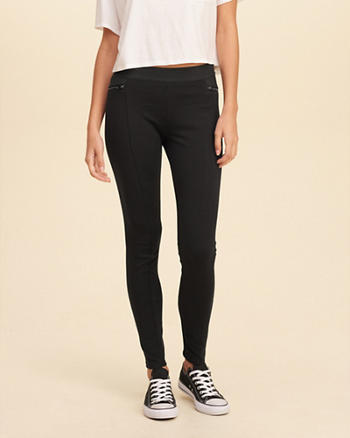Zip Jersey Leggings