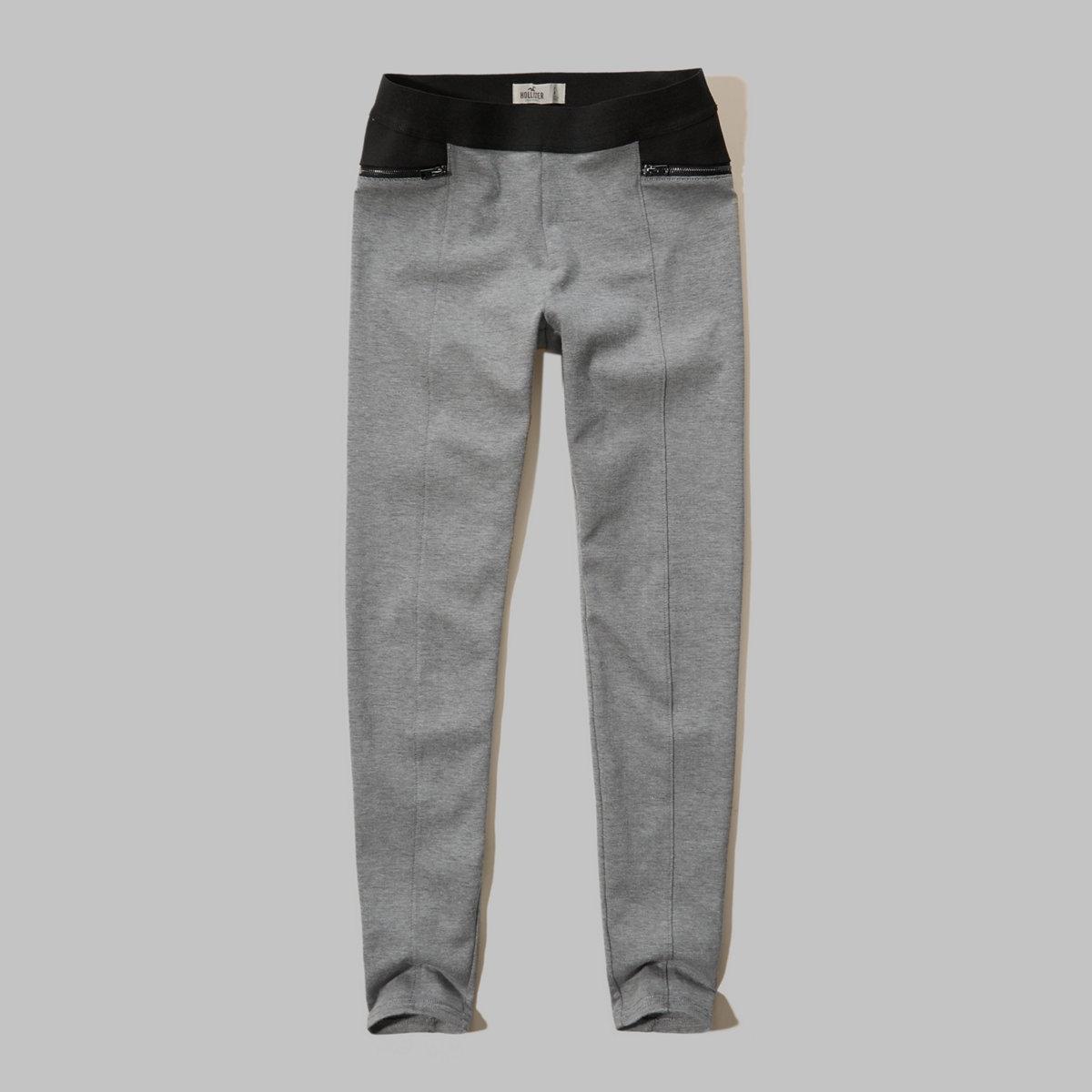 Zip Jersey Leggings