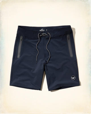 Classic Fit Board Shorts Zip Pocket