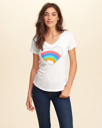 V-Neck Graphic Tee