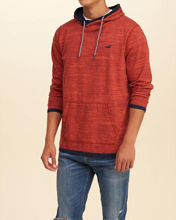 Patterned Jersey Hooded T-Shirt