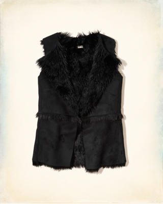 Shearling Suede Vest