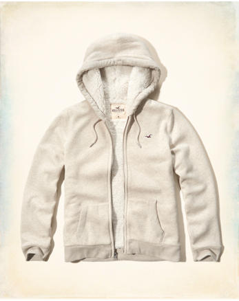 hol Textured Sherpa Lined Hoodie