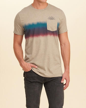 Printed Graphic Pocket Tee