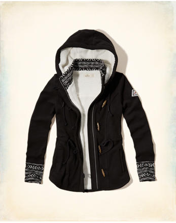 hol Patterned Sherpa Lined Hoodie