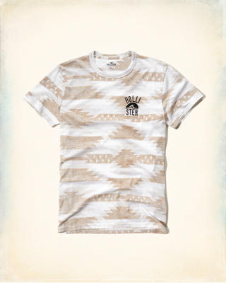 Patterned Logo Graphic Tee