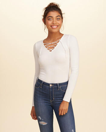 Must-Have Lace-Up Top