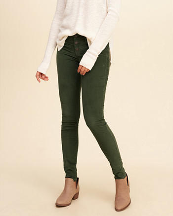 Hollister Low-Rise Super Skinny Corduroy Pants