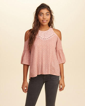 Cold Shoulder Peasant Top