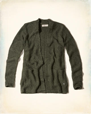 Textured Non-Closure Cardigan