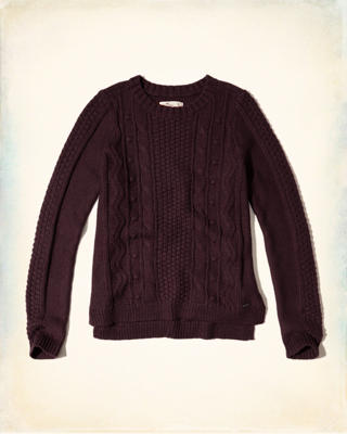 Cable Crew Sweater