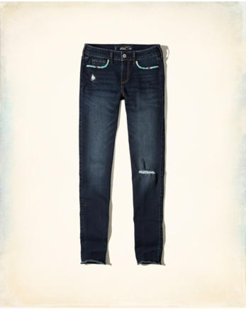 hol Hollister Low-Rise Super Skinny Jeans
