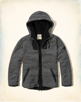 Sherpa Lined Thermal Fleece Hoodie