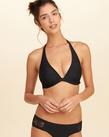 Push-Up Triangle Swim Top