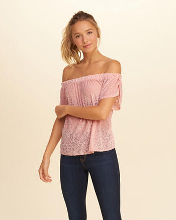 Off-The-Shoulder Velvet Top