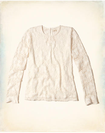 hol Long-Sleeve Lace Top