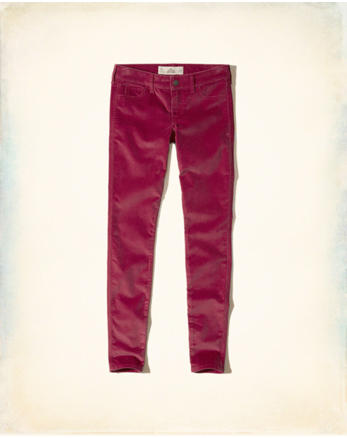 hol Hollister Low-Rise Super Skinny Corduroy Pants
