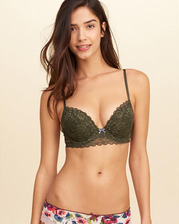 Gilly Hicks Push-Up Plunge Lace Bra