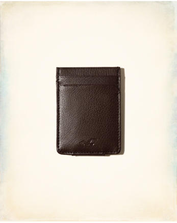 hol Leather Money Clip Card Holder