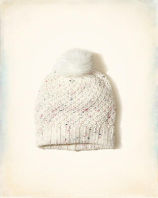 Patterned Pom Beanie