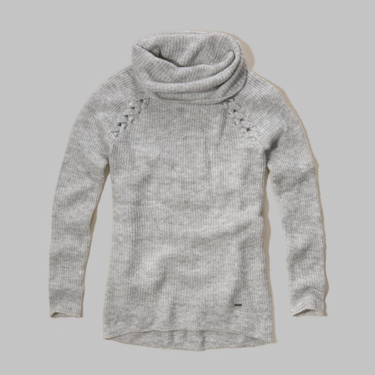 Cowl Neck Tunic Sweater