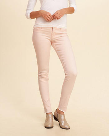 Hollister Low-Rise Super Skinny Twill Pants