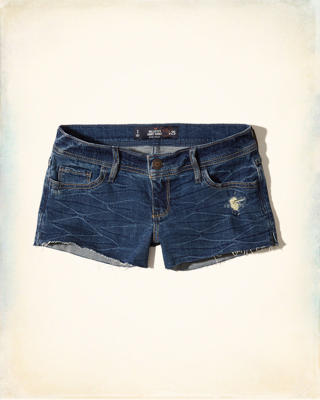 Hollister Low-Rise Denim Short-Shorts