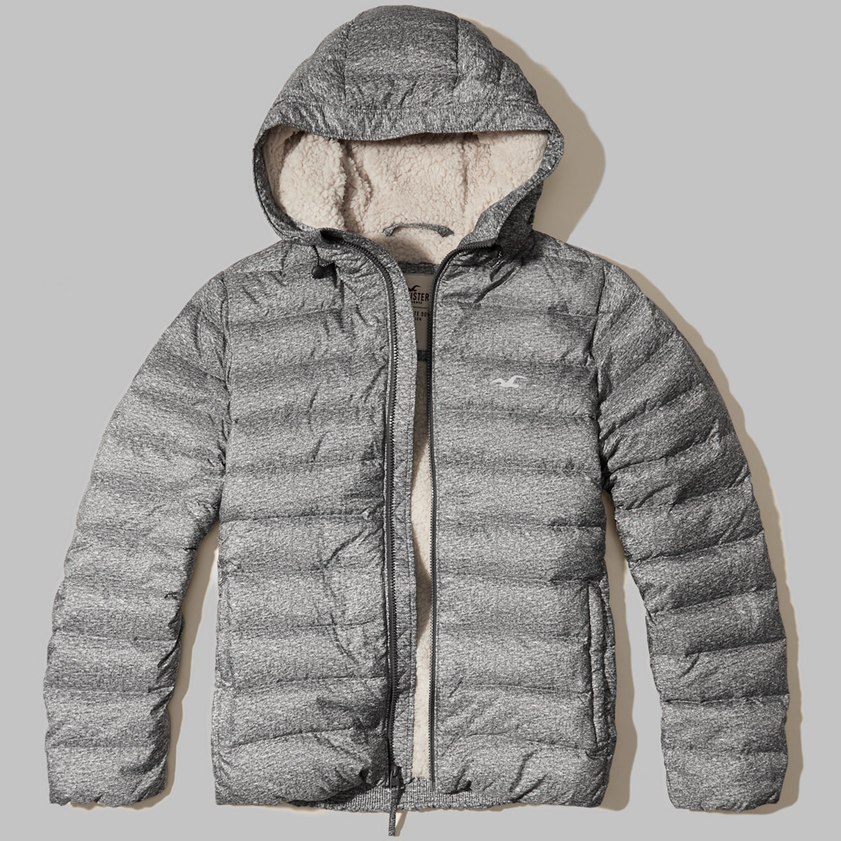 Sherpa Lined Down Puffer Jacket