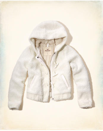 hol Hooded Faux Fur Bomber Jacket