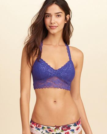 Gilly Hicks Removable-Pads Lace Racerback Bralette