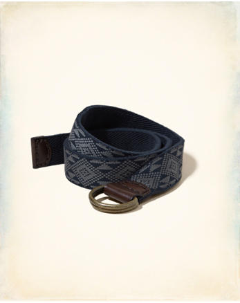 hol Patterned Fabric Belt