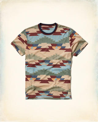 Patterned Crew T-Shirt