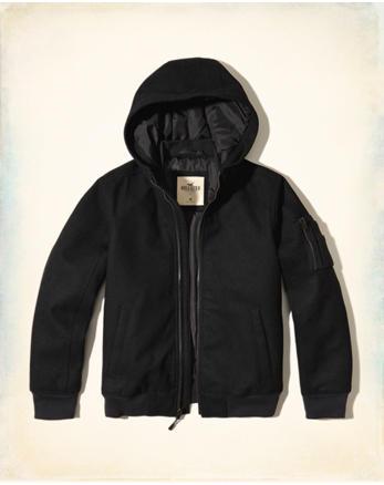 hol Hooded Wool-Blend Bomber Jacket