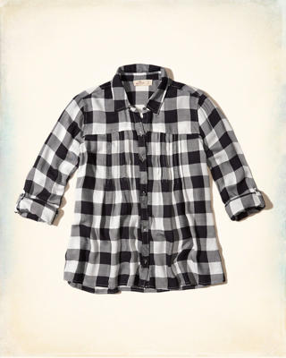 Pintuck Button-Front Shirt