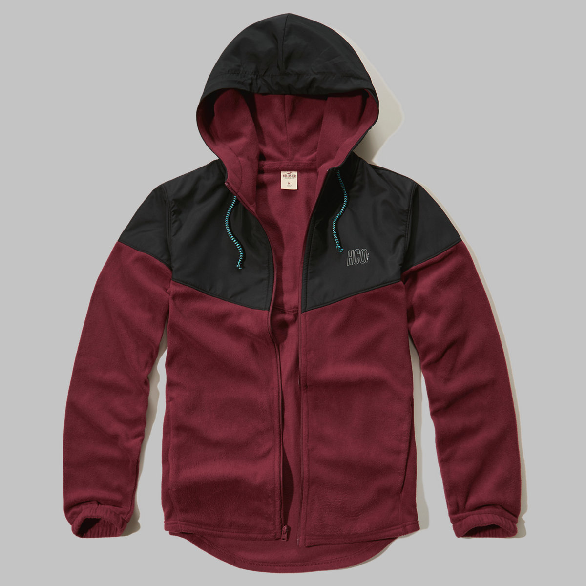 Colorblock Thermal Fleece Hoodie