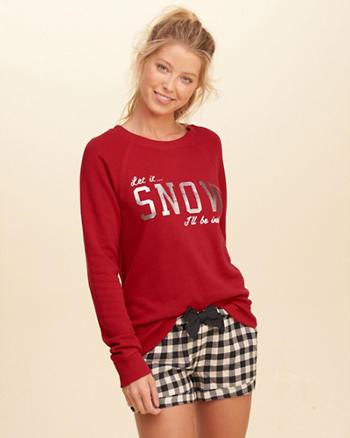 Printed Graphic Crew Sweatshirt