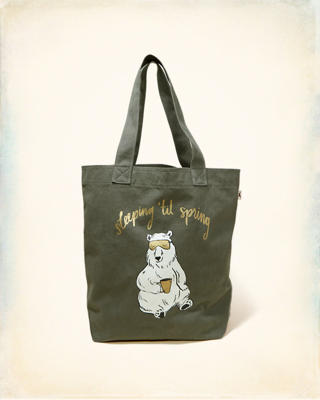 Graphic Canvas Tote Bag