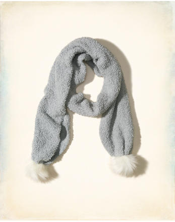hol Pom Knit Scarf
