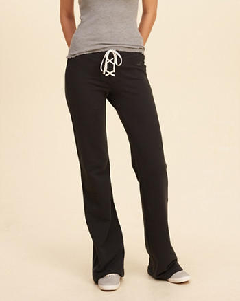 Hollister Lace-Up Flare Sweatpants