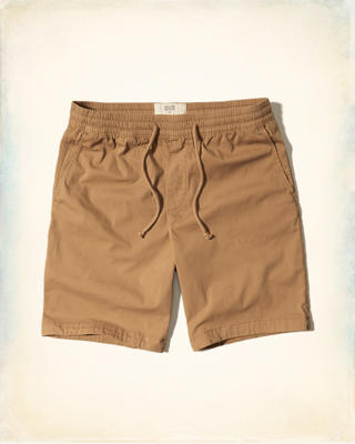 Hollister Classic Fit Pull-On Twill Shorts