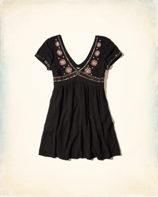 Embellished Babydoll Dress